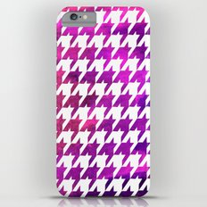 Houndstooth bright pink watercolor Slim Case iPhone 6s Plus