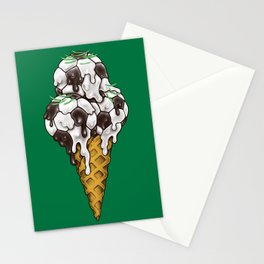 Ice Cream Soccer Balls Stationery Cards