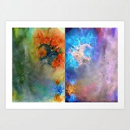 Abstract Rorschach Nebula Art Print