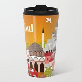 Istanbul, Turkey - Skyline Illustration by Loose Petals Travel Mug
