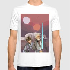 Farthest From White SMALL Mens Fitted Tee