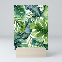 Tropical Jungle Leaves Mini Art Print