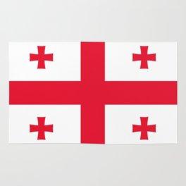 Flag of georgia-Georgia,Sakartvelo, Causasus,georgeian,საქართველო ,Tbilisi,causasus,Georgian,ქართული Rug