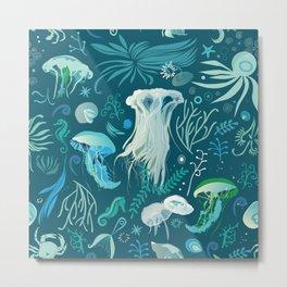 Aqua pattern Metal Print