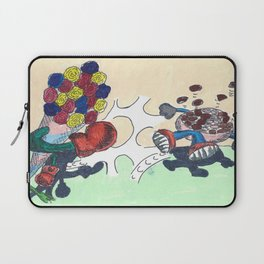 Flowers Versus Chocolate Laptop Sleeve
