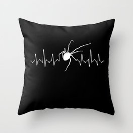 Spider Heartbeat Throw Pillow