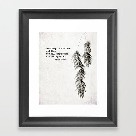 deep into nature Framed Art Print