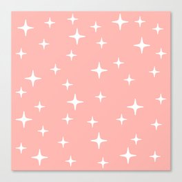 Mid Century Modern Star Pattern 443 Peach Canvas Print