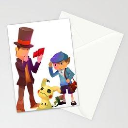 Professor Layton meet Mimikyu Stationery Cards