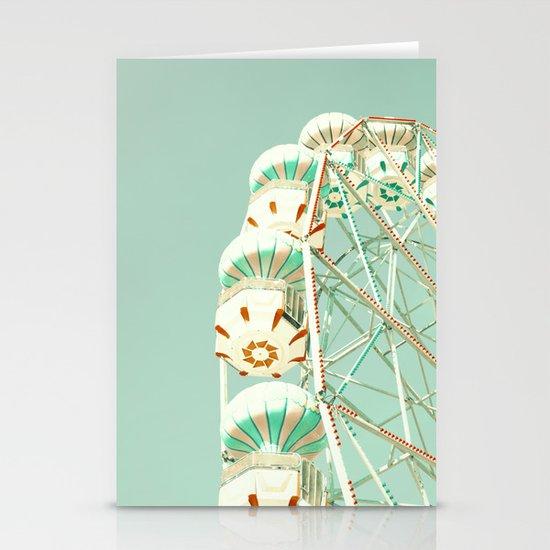 Soft Aqua Ferris Wheel  Stationery Cards
