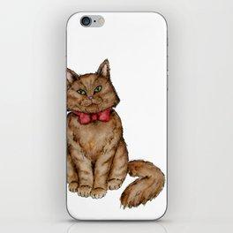 bow tie Cat iPhone Skin