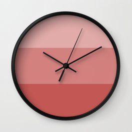 Rose Tricolor Wall Clock