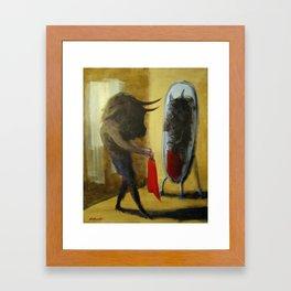 Minotaur Matador Framed Art Print