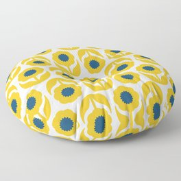 Joy collection- Yellow flowers Floor Pillow