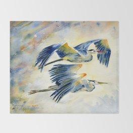 Flying Together - Great Blue Heron Decke