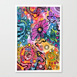 """Tie-Dye Wonderland"" Canvas Print"