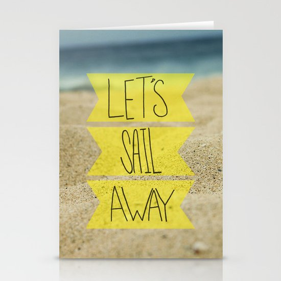 Let's Sail Away: Sandy Beach Stationery Cards