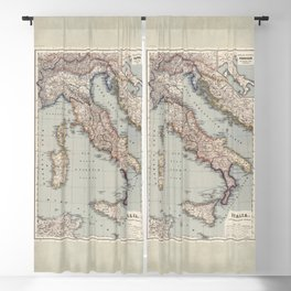 Bella Italia Vintage Map Of Italy Blackout Curtain