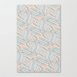 Palm Leaves Coral Canvas Print