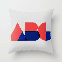 Geometric ABC Throw Pillow