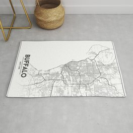 Minimal City Maps - Map Of Buffalo, New York, United States Rug