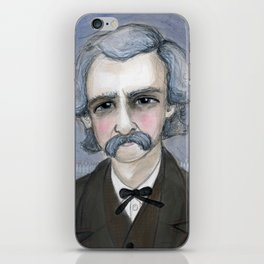 The Adventures of Mark Twain, A Victorian Writers Portrait iPhone Skin