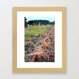 Covered Rail Framed Art Print