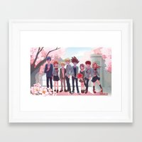 digimon Framed Art Prints featuring DIGIMON TRI by luttu