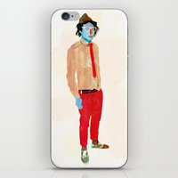 hat iPhone & iPod Skins featuring Hat by Alvaro Tapia Hidalgo