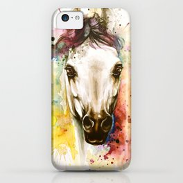 """""""Into the mirror"""" n°2 The horse iPhone Case"""