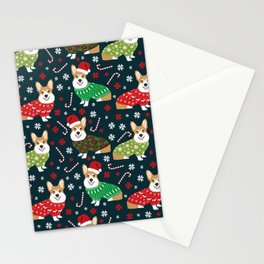Corgi christmas sweater ugly sweater party with welsh corgis dog lovers dream christmas Stationery Cards