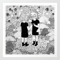 Siamese Twin Art Print