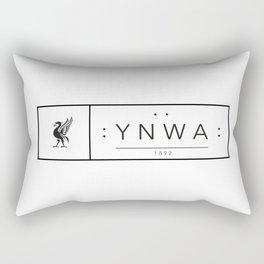 Liverpool minimal logo Black Rectangular Pillow