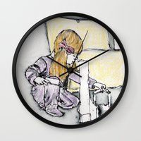 building Wall Clocks featuring building by Beth Gilmore