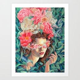 Persephone, Greek Goddess Mythology Art, original oil painting print Art Print