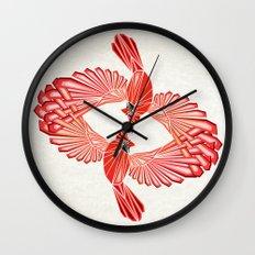 red cardinal Wall Clock