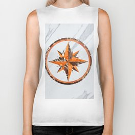 Wind rose ~ Inlaid marble Biker Tank