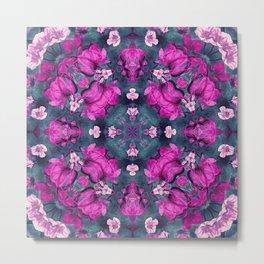 mandala 9 purple #mandala Metal Print
