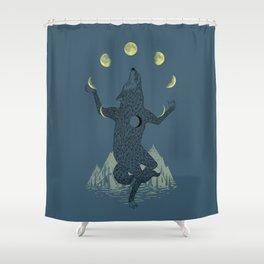 Moon Juggler Shower Curtain