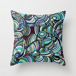 Mussel Beach Throw Pillow