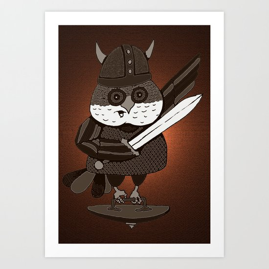 The Wisest Viking Was an Owl Art Print