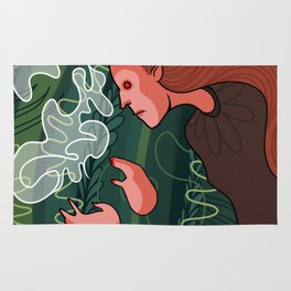 wood witch Rug