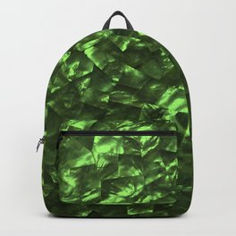 Bright Jade Green Jewelry Mother of Pearl Backpack