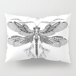 Dragon Fly Tattoo Black and White Pillow Sham