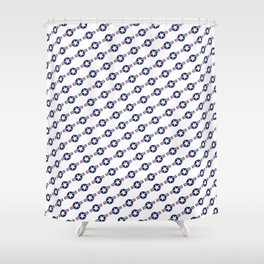US Air force Style insignia Pattern Shower Curtain