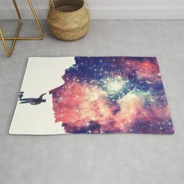 Painting the universe (Colorful Negative Space Art) Rug