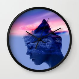 High IQ Girl Wall Clock