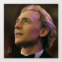 tom hiddleston Canvas Prints featuring Tom Hiddleston by Wisp Wool