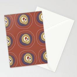 Organic dots and lines Stationery Cards