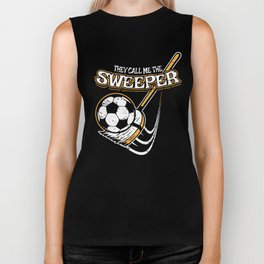 Funny Soccer Gift for Soccer Coaches, Players and Fans Biker Tank